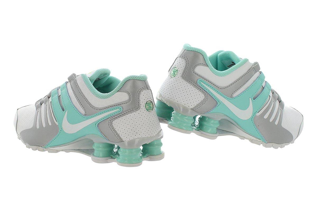 5da48282b62 NIKE Womens 636088-026 Women s Shox Nz Black Pink Grey 636088-026 White  Size  3.5 UK  Amazon.co.uk  Shoes   Bags