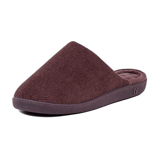 Isotoner - Zapatillas de Estar por casa para Hombre Marrón marrón: Amazon.es: Zapatos y complementos