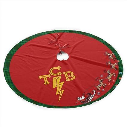 DeclanI Elvis-The King of Rock 'n'roll TCB Christmas Tree Skirt - - Amazon.com: DeclanI Elvis-The King Of Rock 'n'roll TCB Christmas