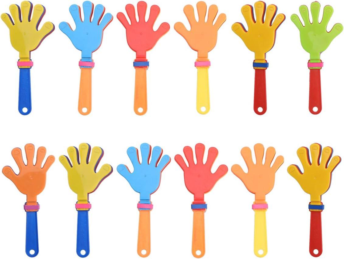 YeahiBaby Plástico Juguetes de ruido para aplaudir a mano - Paquete de 12, Suministros para fiestas deportivas
