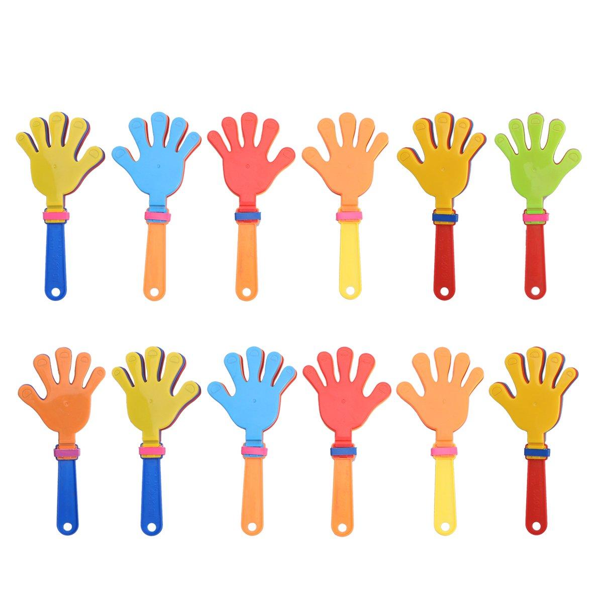 TOYMYTOY 12pcs plástica mano palmas juguete jadea los favores de partido noisemakers para gritar aplausos