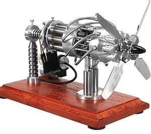 Yamix 16 Cylinders Hot Air Stirling Engine Motor Model Physics Education Toy Motor Engine 16 Cylinder Stirling Engine