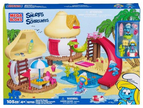 Smurf Mushroom (Mega Bloks Smurfs Beach)