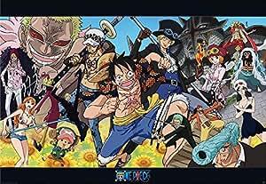 Poster One Piece, Luffy y tripulación en isla Dessrosa