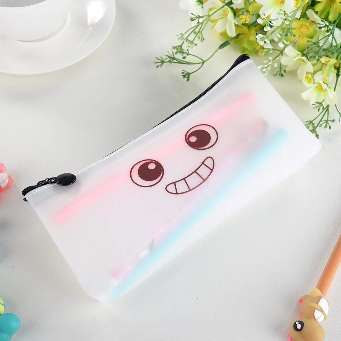 Amazon.com : Simple Jelly Pencil Case Creative Pencil Pouch Purse Cosmetic Bag Travel Makeup Bag Storage Student Stationery Zipper Wallet High Capacity (A) ...