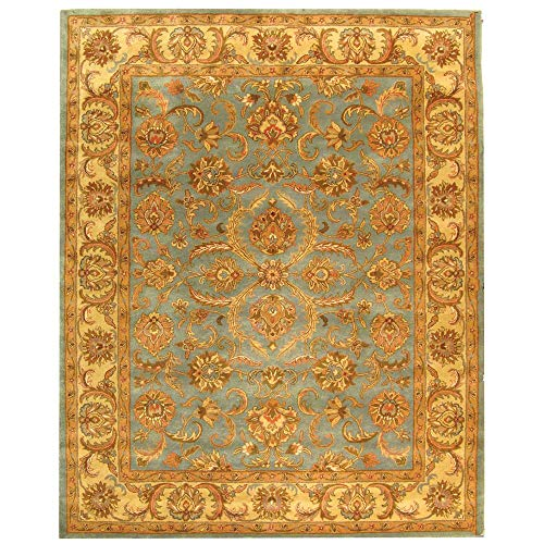 - Safavieh Heritage Collection HG811B Handcrafted Traditional Oriental Blue and Beige Wool Area Rug (9' x 12')
