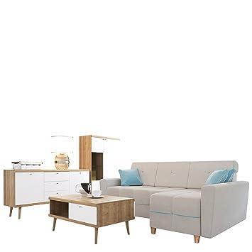 Wohnzimmer Set Primo 8 Ecksofa Grey Im Skandinavischen Stil Inkl