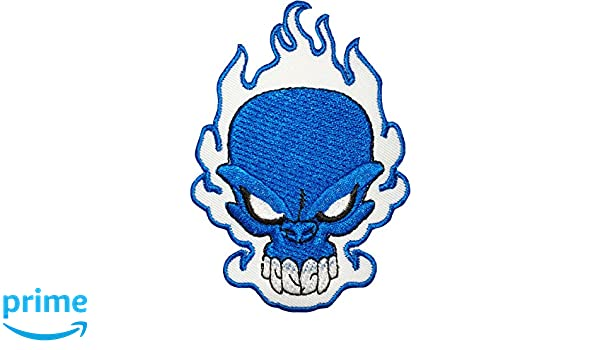 Fire Flame Bikers Iron On Sew On Embroidered Patch For Clothes Bags Shoes etc
