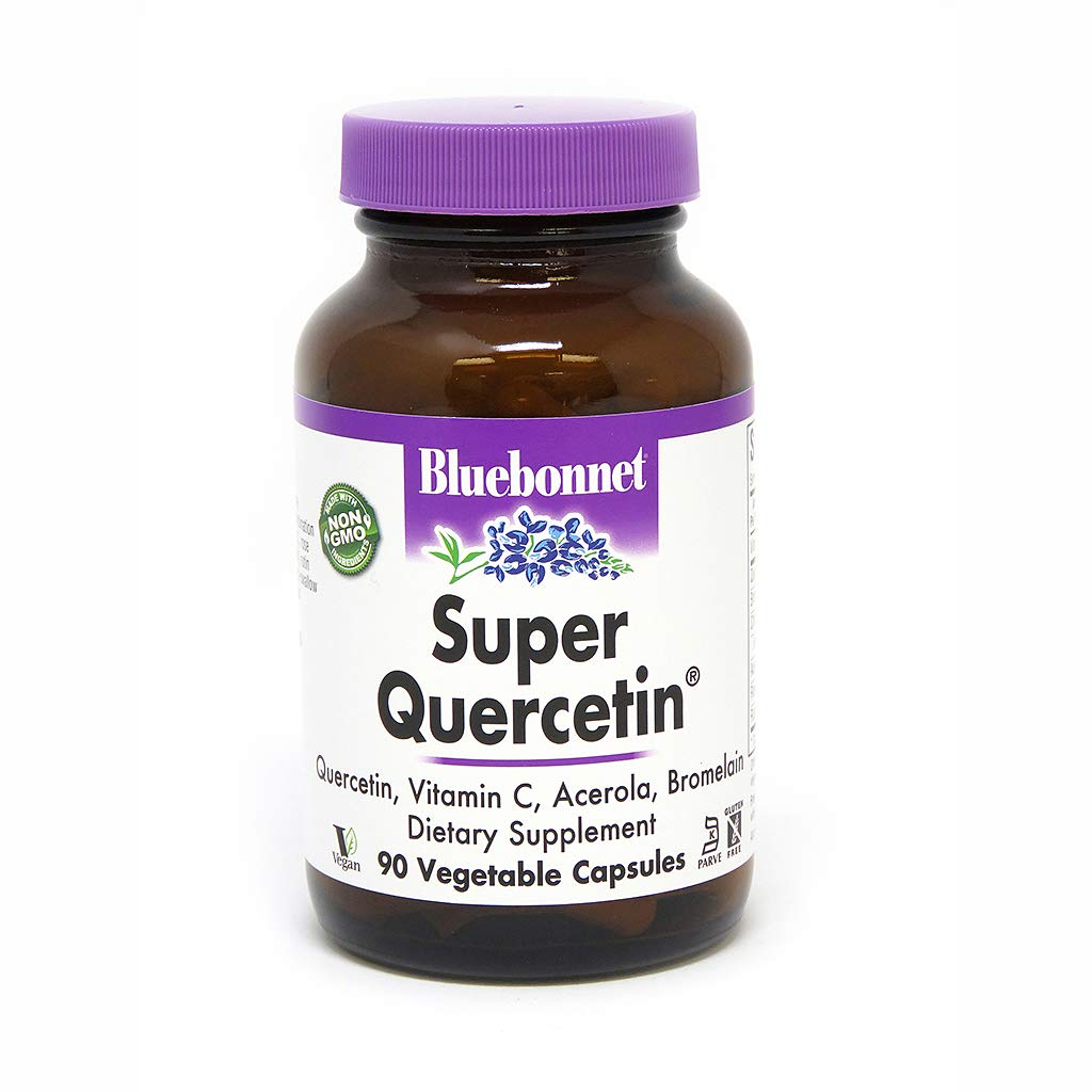 Bluebonnet Nutrition Super Quercetin Vegetable Capsules, Vitamin C Formula, Best for Seasonal & Immune Support, Non GMO, Gluten Free, Soy Free, Milk Free, Kosher, 90 Vegetable Capsules
