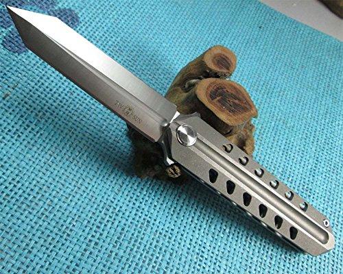 TwoSun Knives Outdoot Tool Boot Dagger Titanium Fast Open Folding Knife TS52