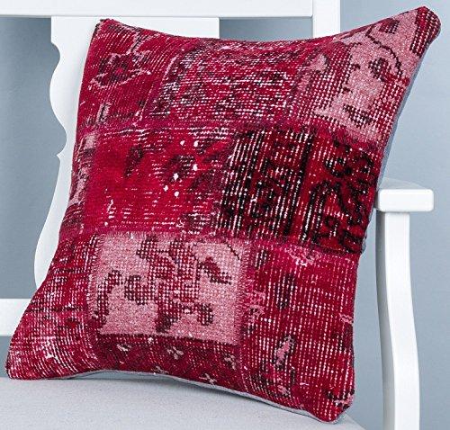 - Turkish Pillow 18''x18'' Rug Pillow Cover Turkish Rug Pillow Cases Patchwork Pillow Oriental Pillows Modern Pillow Boho Pillow Bohemian Pillow