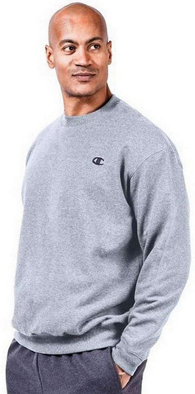Champion Men's Big-Tall Fleece Crew Sweatshirt: Clothing