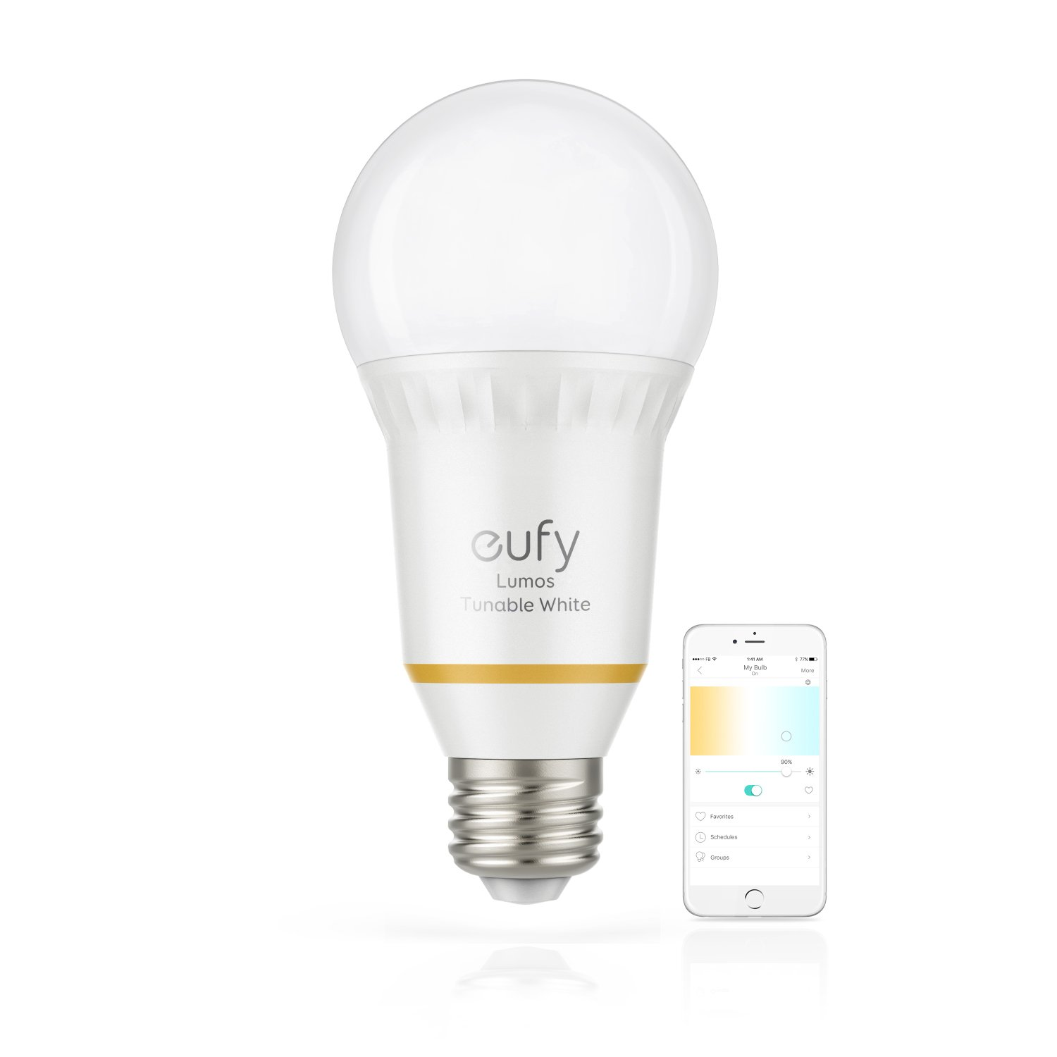 eufy Lumos Smart Bulb By Anker- Tunable, Soft White To Daylight (2700K-6500K), 60W Equivalent, Works With Amazon Alexa & Google Assistant, No Hub Requires, Wi-Fi, Dimmable LED Light Bulb, 9W, A19, E26