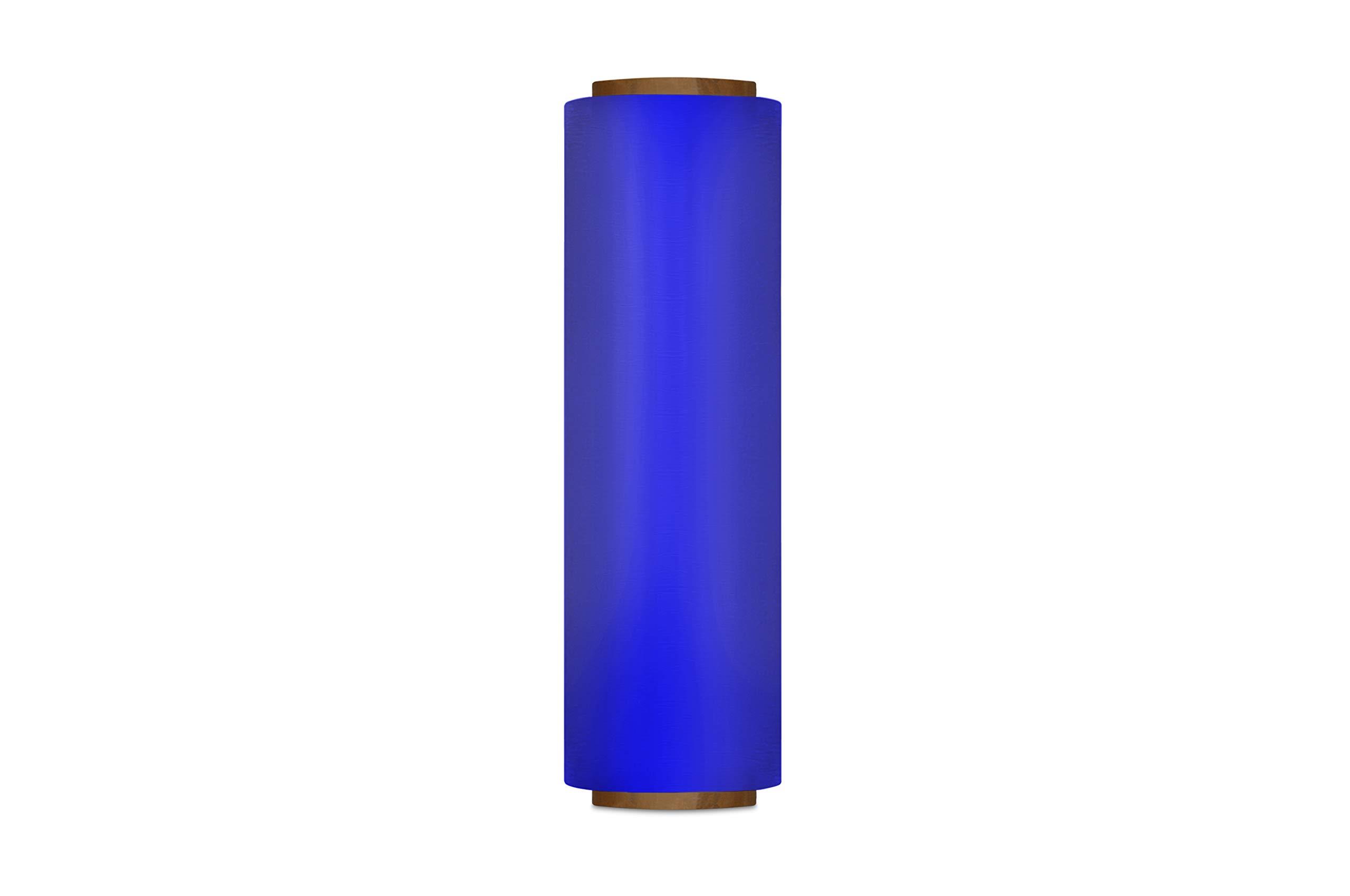 Stretch Wrap Film, Plastic Cling Wrap, Blue, 18 Inch x 1500 Feet, 80 Gauge, 1 Roll by PackagingSuppliesByMail