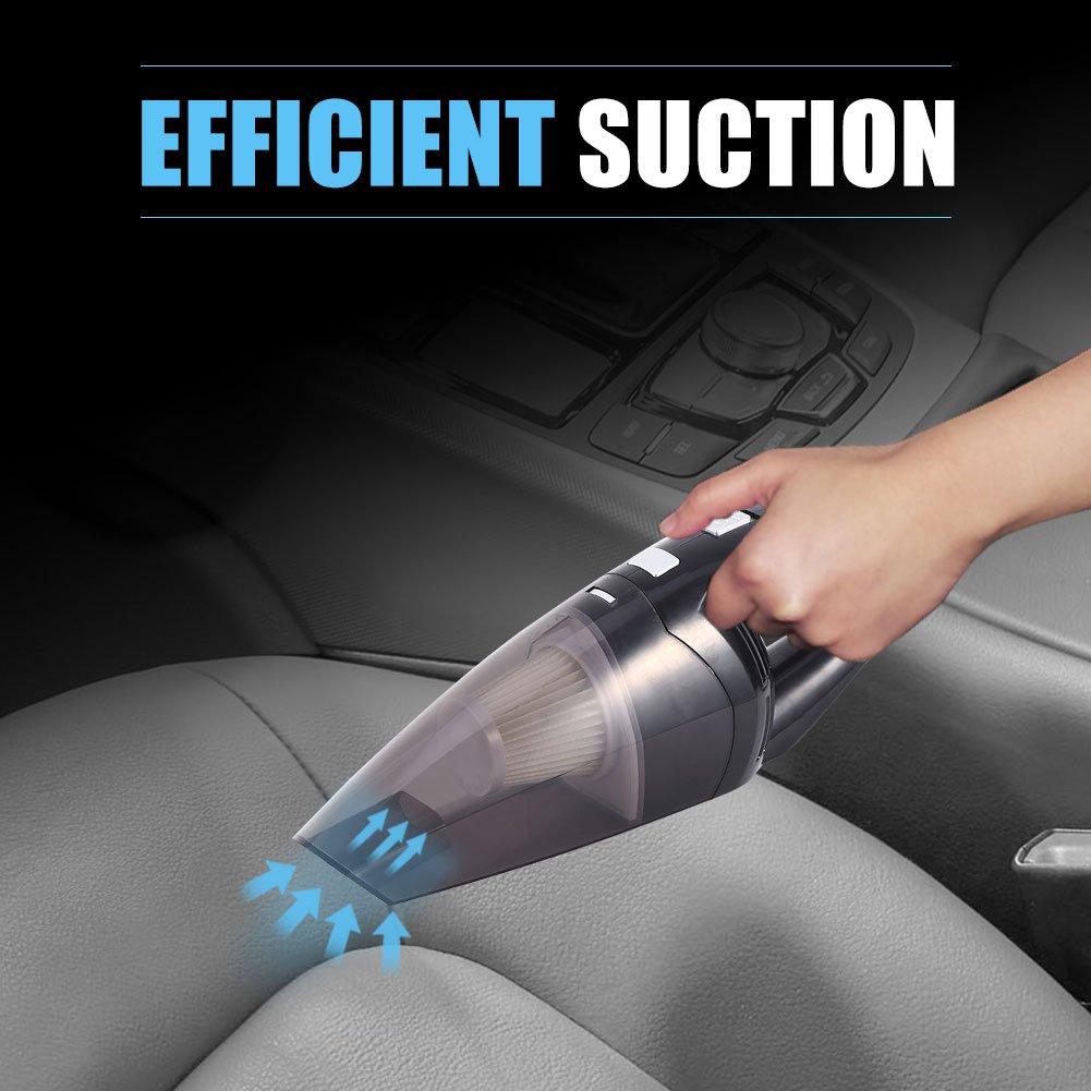 Aspirapolvere Per Auto Portatile 120W 12V Mini Leggero Umido/&Secco Nero