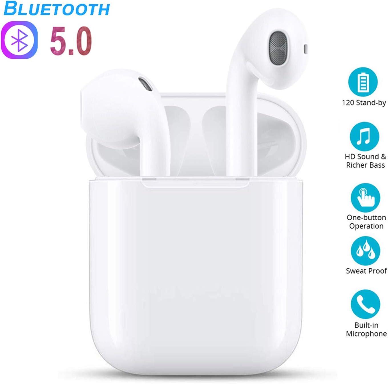Auriculares Bluetooth Auriculares inalámbricos 5.0 Auriculares Bluetooth en Oreja Auricular Estéreo inalámbrico en Oreja Manos Libres para Apple Airpods/Android/iPhone/Samsung