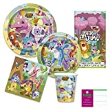 Animal Jam Party Supplies Pack for 16 Guests - Paper Plates, Napkins, Cups, Tablecover