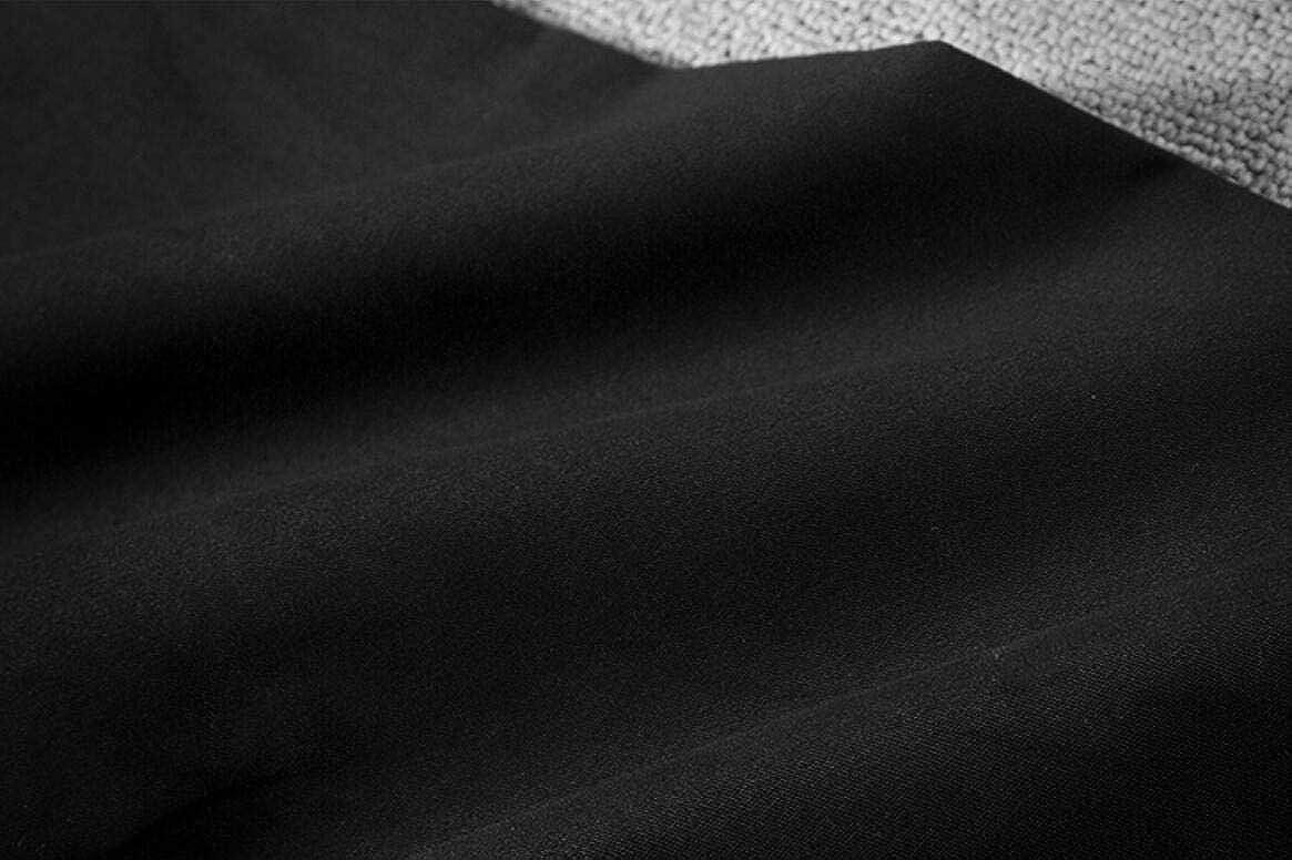 Yayu Mens Pure Color Elastic Drop Twill Crotch Simple Sweatpants
