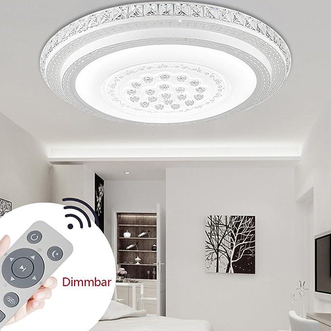 SZYSD 60W LED Deckenleuchte Kristall Wohnzimmer Flurleuchte Rund ...