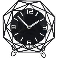 QMWY Table Clock,Reloj Acrílico Movimiento Ultra-Silencio Tai Campana