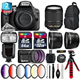 Holiday Saving Bundle for D3300 DSLR Camera + 18-140mm VR Lens + Flash with LCD Display + 64GB Class 10 Memory Card + 6PC Graduated Color Filer Set + 2yr Extended Warranty - International Version