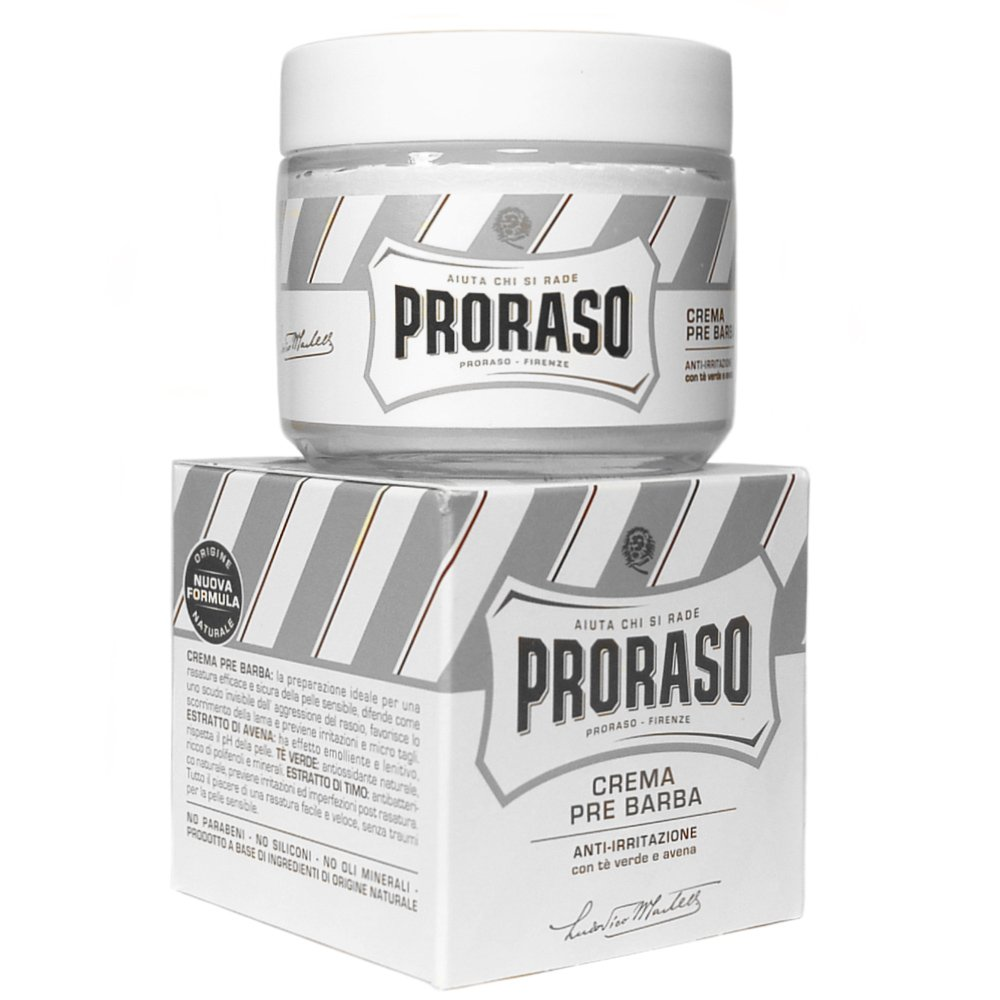 Proraso Pre Shave Cream for Ultra Sensitive Skin (100ml) by Proraso
