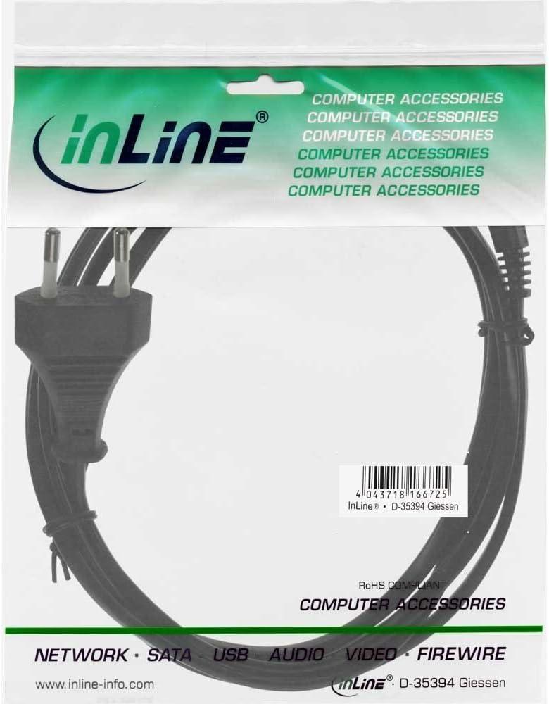 Inline 16654a Netzkabel Netzstecker Auf Euro 8 C7 Computer Zubehör