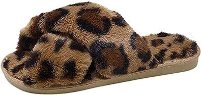 Amazon.com | Womens Fuax Fur Slippers