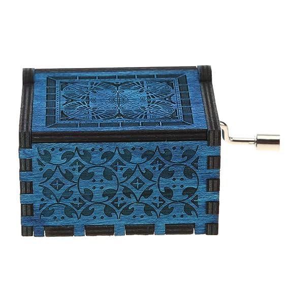 Domybest Caja de Música de Madera, Caja de Música de Sacudida de la Mano, Adornos de Regalo de Cumpleaños, Decorativa (C): Amazon.es: Hogar