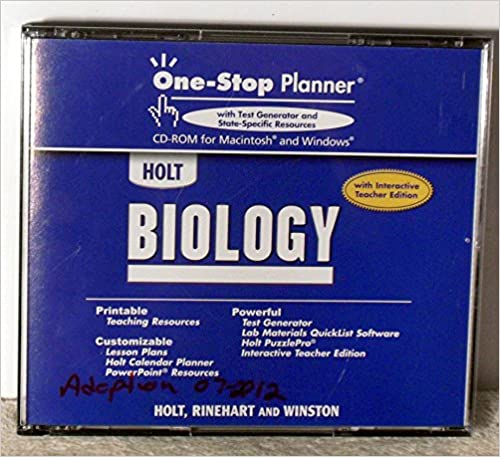One Stop Planner Holt Biology 9780030740640
