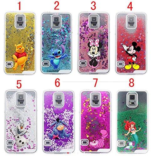 Phone Kandy® Duro transparente caja del teléfono de Shell del brillo de la chispa Stars con la historieta (iPhone 6 6s Plus (5.5), Minnie) Pooh