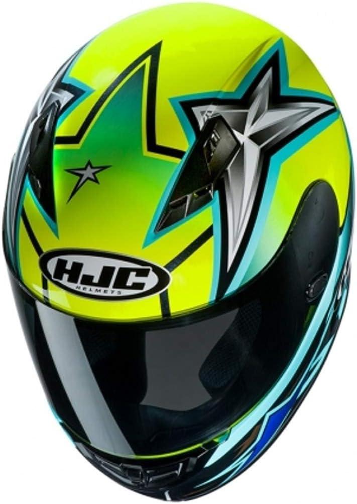 Jaune//Noir//Bleu Motorcycle helmets HJC CS 15 TONI ELIAS 24 MC4H XS