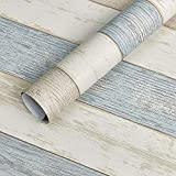 Beach Wood Contact Paper Decorative Self-Adhesive Film Peel and Stick Countertop, Durable,Waterproof for Home and Office 17.5 by 78.7 Inches