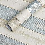 Contact Paper Colorful Wood Grain Shelf Drawer liner 17.5 * 78.7in, Self Adhesive