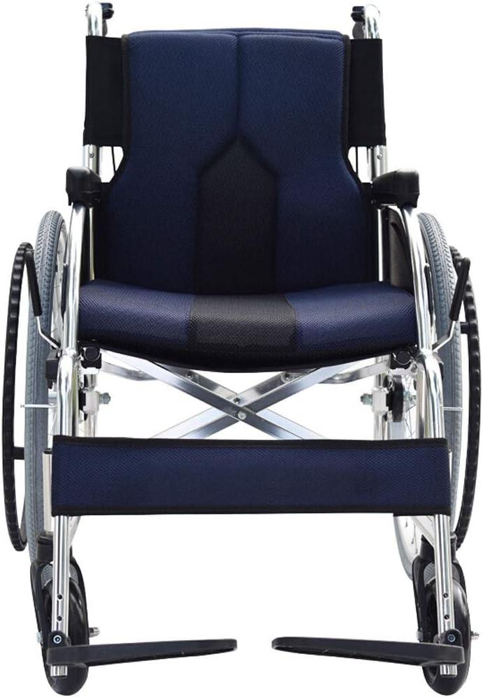 YIN YIN Viaje Silla de Ruedas Plegable médica en casa Cuidado de Ancianos Coche Scooter Ayuda for Caminar neumático sólido Duradero (Color : C)