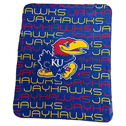 Logo Brands NCAA Kansas Jayhawks Classic Fleece, One Size, Royal