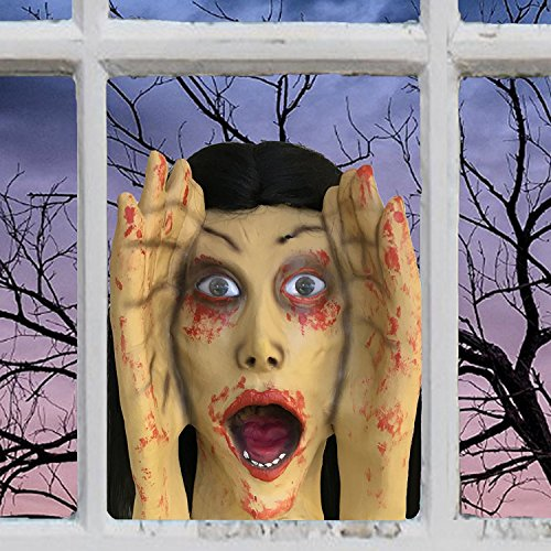 Scary Peeper Screaming Banshee Halloween Prop - Spooky Holiday Decoration – True-to-Life Motion Activated Banshee that Peers in Your Window and (Spooky Halloween Pranks)