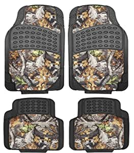 mossy surreal camouflage set of 4 piece car truck floor mat set universal fit all. Black Bedroom Furniture Sets. Home Design Ideas