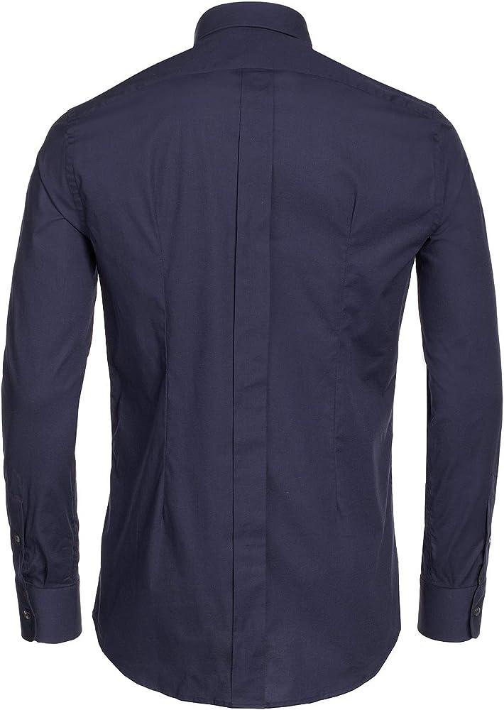 Dolce & Gabbana Camisa Formal - Logotipo - Básico - Cuello Kent - Para Hombre Negro 46: Amazon.es: Ropa y accesorios