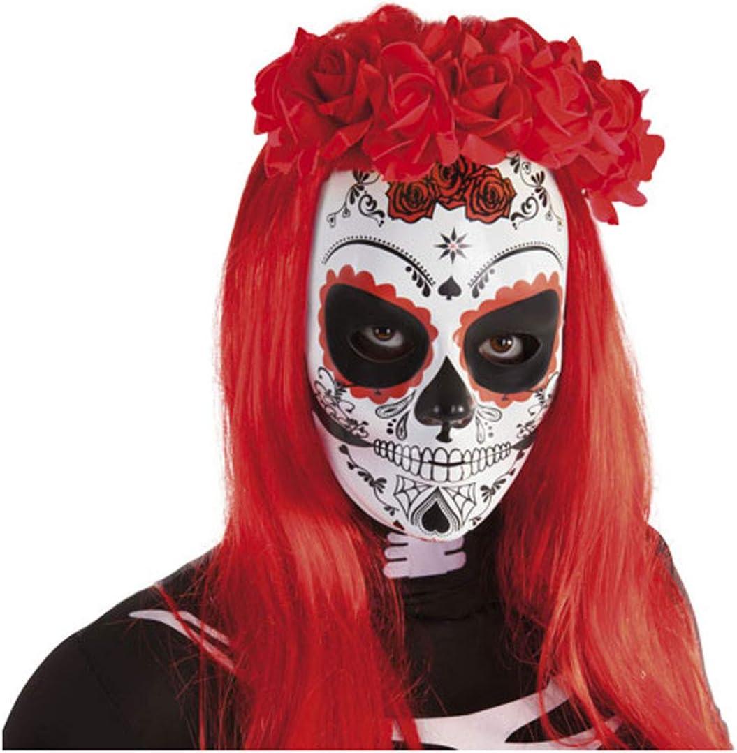 Rubies- Diadema Katrina con rosas Día de los Muertos, Color rojo ...