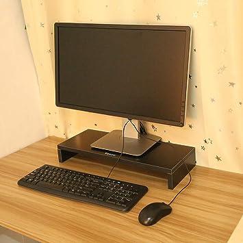 Yosoo Madera Escritorio Soporte de Monitor, TV PC portátil Soporte para Pantalla de Ordenador (