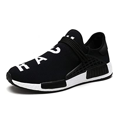 BMTH Mens Womens Unisex Lightweight Fashion Sneakers Breathable Lace-up Athletic Sports Shoes Human Race