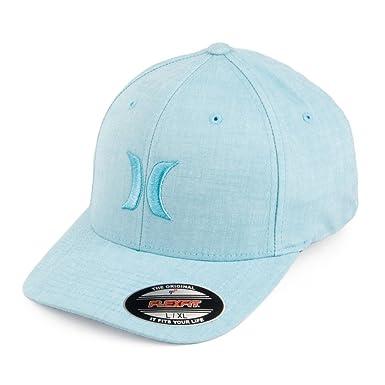 4fc9126e3aa Hurley Hats One   Textures Flexfit Baseball Cap - Light Blue Large X-Large