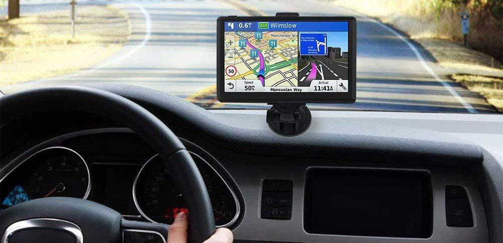 GPS Sat Navi,Navigationf/ür Touch Screen Auto PKW 7 Zoll LKW Navigationsger/ät mit Lebenslang Kostenlosem Kartenupdate Blitzerwarnung POI Sprachf/ührung Fahrspurassistent 2018 Karten f/ür 52 EU UK