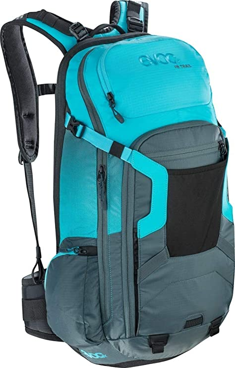 Evoc FR Trail Protector Back Pack 2019 M/L Slate/Neon Blue: Amazon ...