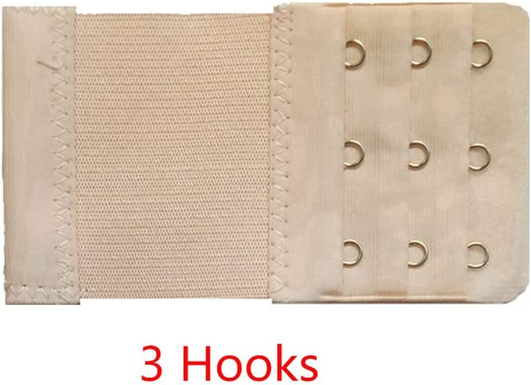 5pcs//set Women Strap Belt Accessories 2 3 Rows Soft Ladies Elastic Buckle Extension Intimates Underwear Clasp Hooks Bra Extender,Nude