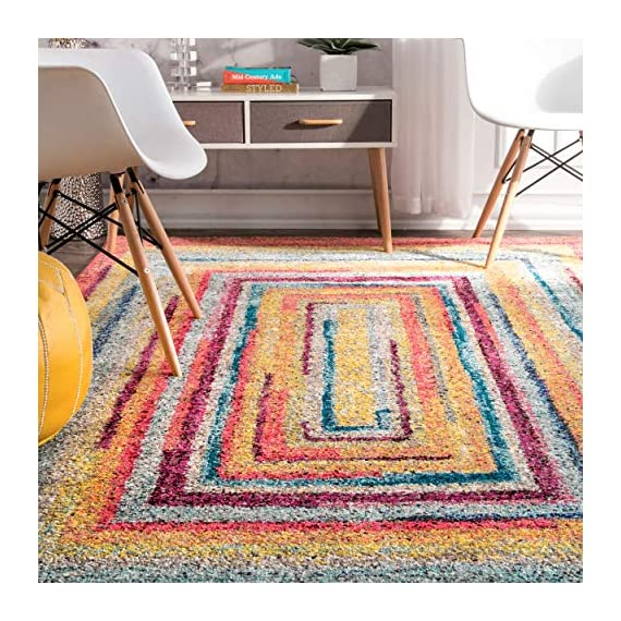 "nuLOOM Hargis Labyrinth Runner Rug, 2' 5"" x 8', Multi - Origin: Turkey Weave: machine made Material: 100% polypropylene - runner-rugs, entryway-furniture-decor, entryway-laundry-room - 61CYyS5XDRL. SS570  -"