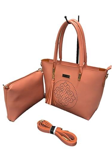 7c8179eb64a Jimmy Choo Women's PU Handbag (Dark Peach) - Combo of 2: Amazon.in: Shoes &  Handbags