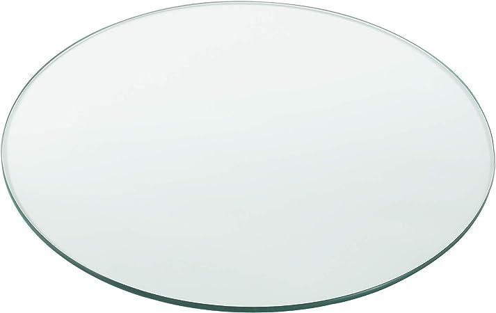 Tableau de Table Bureau Chevet Table de Jardin en Verre Tremp/é ESG Transparent Bords Polis Meuble DIY /Épaisseur 8 mm Diam/ètre /Ø 80 cm /® Neu.Haus