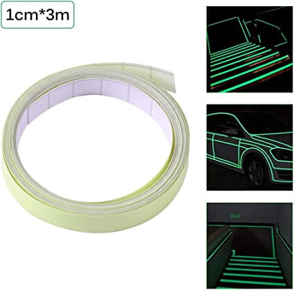1PC ONEVER 3M nastro luminoso autoadesiva Glow In The Dark fase di sicurezza Sticker Home Decor